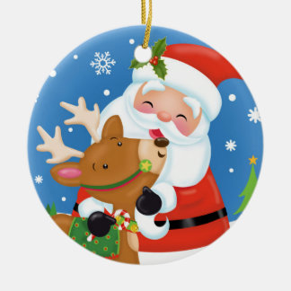Weihnachtskumpel-Verzierung Rundes Keramik Ornament
