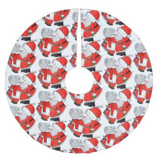 WEIHNACHTSküssender SANKT-Baumrock Polyester Weihnachtsbaumdecke