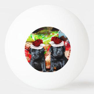 Weihnachtslabrador-Hunde Tischtennis Ball