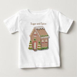 Weihnachtslebkuchen-Haus Baby T-shirt
