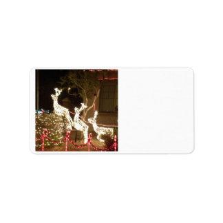 Weihnachtslicht-Adressen-Etikett Adressaufkleber