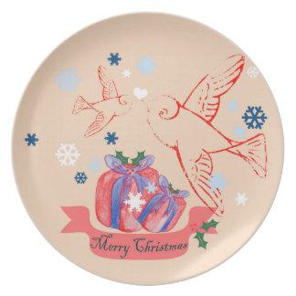 WeihnachtsLovebirds Teller