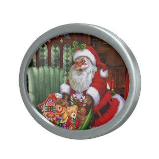 Weihnachtsmann 2 ovale gürtelschnallen