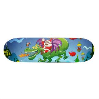 Weihnachtsmann änderte sein Ren für einen Drachen Individuelles Skateboard