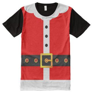 Weihnachtsmann-Anzugs-Weihnachtskostüm-Party T-Shirt Mit Komplett Bedruckbarer Vorderseite