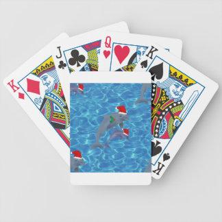Weihnachtsmann-Delphine Bicycle Spielkarten