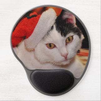 Weihnachtsmann-Katze - frohe Weihnachten - pet Gel Mousepad