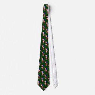 Weihnachtsmann mit Flagge von Cleveland Krawatte