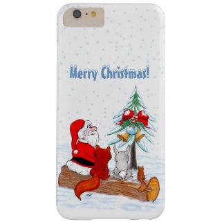 Weihnachtsmann mit KaninchenFox und Eichhörnchen Barely There iPhone 6 Plus Hülle