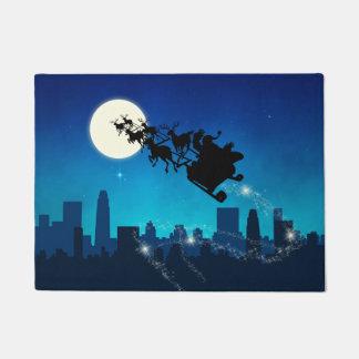 Weihnachtsmann-Pferdeschlitten-Weihnachten - Türmatte