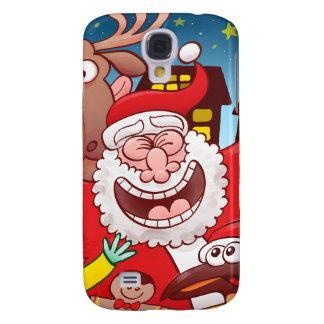 Weihnachtsmann und sein Team sind zum Weihnachten Galaxy S4 Hülle
