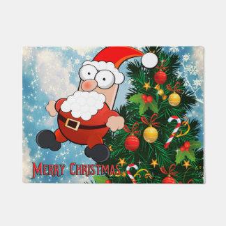 Weihnachtsmann- und Weihnachtsbaum Türmatte