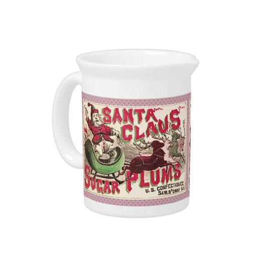 Weihnachtsmann-Weihnachtszuckerpflaumen-Süßigkeit Krüge