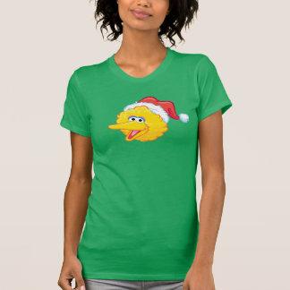 Weihnachtsmannmütze-großer Vogel T-Shirt