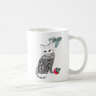 WeihnachtsMiezekatze-Kätzchen-Schale Tasse