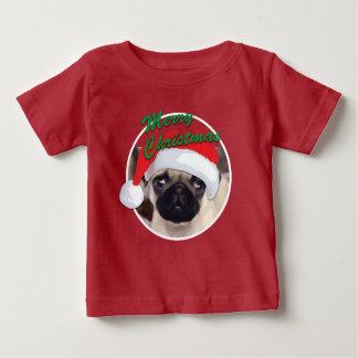 WeihnachtsMops - Baby-feiner Jersey-T - Shirt