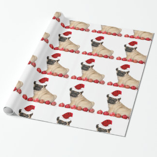 WeihnachtsMops-Verpackungspapier Geschenkpapier