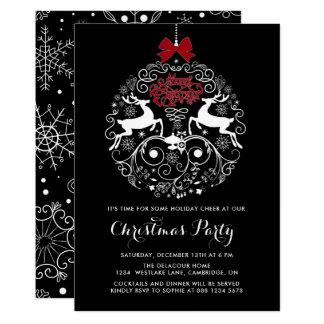 WeihnachtsParty Einladung der Ren-Verzierungs- 