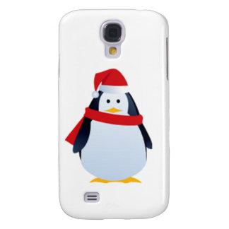 WeihnachtsPenguin in einer Weihnachtsmannmütze Galaxy S4 Hülle
