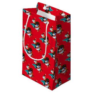 WeihnachtsPenguin mit Skaten Kleine Geschenktüte