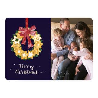Weihnachtsplätzchen-Kranz mit Karte
