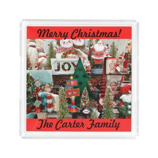 Weihnachtsplätzchen und -Cocos IHR Acryl Tablett