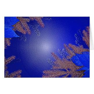 Weihnachtspoinsettia-Blau