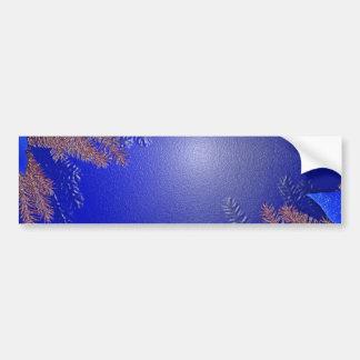 Weihnachtspoinsettia-Blau I Autoaufkleber