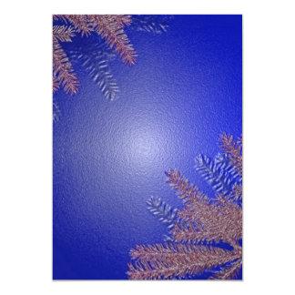Weihnachtspoinsettia-Blau I 12,7 X 17,8 Cm Einladungskarte