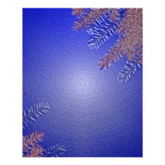 Weihnachtspoinsettia-Blau II 11,4 X 14,2 Cm Flyer
