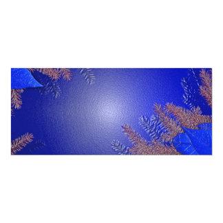 Weihnachtspoinsettia-Blau II 10,2 X 23,5 Cm Einladungskarte