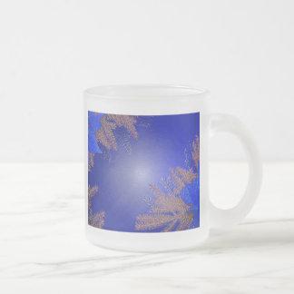 Weihnachtspoinsettia-Blau VI Kaffeetasse
