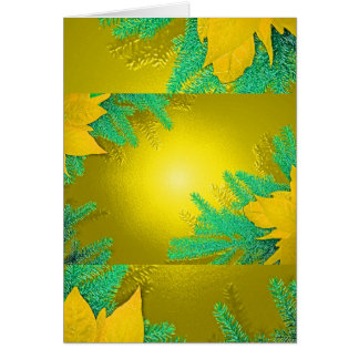 Weihnachtspoinsettia-Gold und Grün