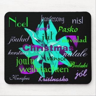 Weihnachtspoinsettia im Blau aus der ganzen Welt Mousepad