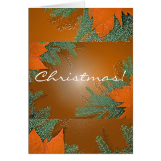 Weihnachtspoinsettia-Orange auf englisch
