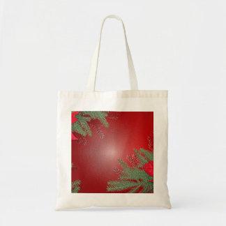 Weihnachtspoinsettia-Rot Tragetaschen