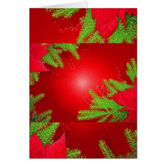 Weihnachtspoinsettia rot und grün