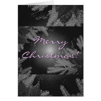 Weihnachtspoinsettia schwarz und Grau auf englisch