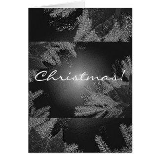 Weihnachtspoinsettia schwarz und Grau auf englisch Grußkarte