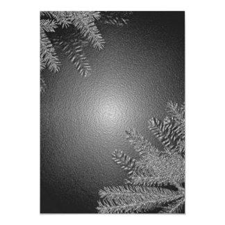 Weihnachtspoinsettia schwarz und Grau I 12,7 X 17,8 Cm Einladungskarte