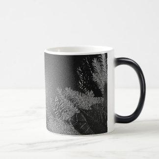 Weihnachtspoinsettia schwarz und Grau III Kaffee Haferl