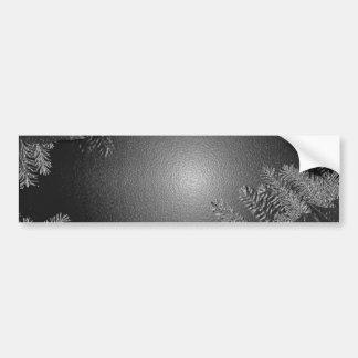 Weihnachtspoinsettia-Schwarzes und Grau Autosticker