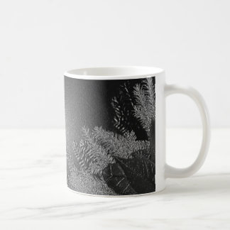 Weihnachtspoinsettia-Schwarzes und Grau Teehaferl