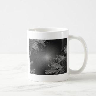 Weihnachtspoinsettia-Schwarzes und Grau Teetasse