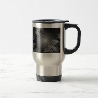 Weihnachtspoinsettia-schwarzes und graues V Tee Tassen