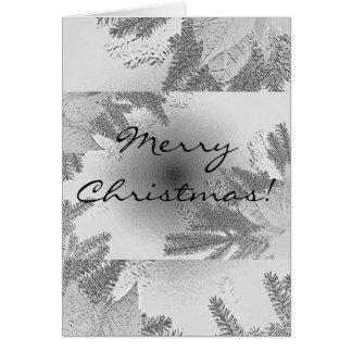 Weihnachtspoinsettia weiß und Grau auf englisch