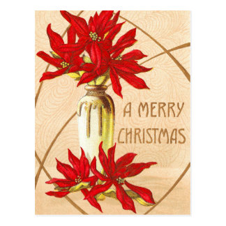 Weihnachtspoinsettias Postkarte