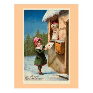 """""""Weihnachtspost-"""" Vintage Postkarte"""