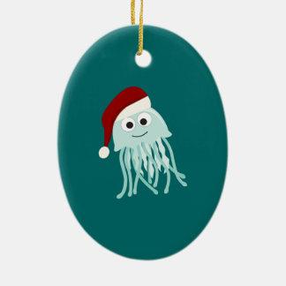 Weihnachtsquallen Keramik Ornament