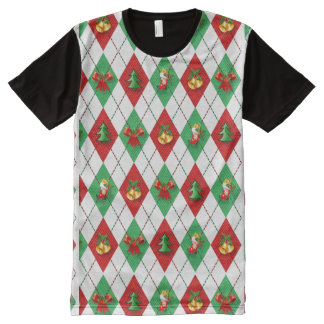WeihnachtsRaute T-Shirt Mit Komplett Bedruckbarer Vorderseite